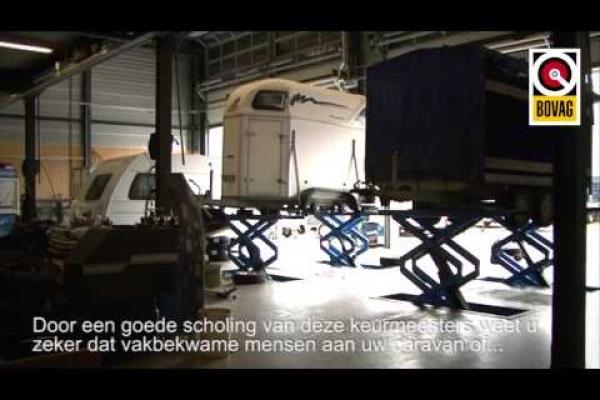 BOVAG Onderhoudsbeurt voor aanhangwagens en caravans